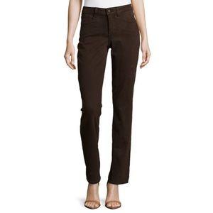 NYDJ Womens Size 8 Straight Leg Ganache